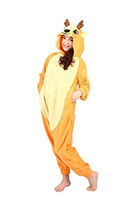 WOTOGOLD Animal Cosplay Costume Unisex Adult Sika Deer Pajamas