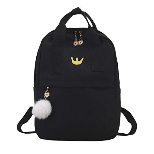 school bag for students,iOPQO Girl Canvas Backpack Satchel Travel Shoulder Bag ()