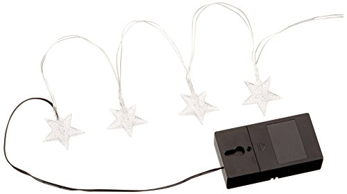 Star Battery Operated LED Christmas String Lights - RGBY, 2