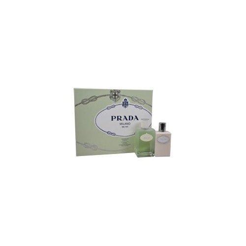 (Prada Milano Infusion D'Iris by Prada for Women - 2 Pc Gift Set 3.4oz EDT Spray, 3.4oz Hydrating Body Lotion)