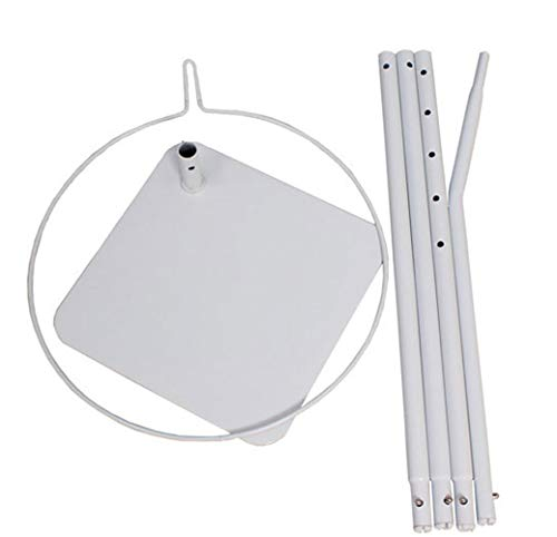 RuiHome Crib Mosquito Net Floor-standing Bracket Holder Cot Bed Universal Metal Stand Frame