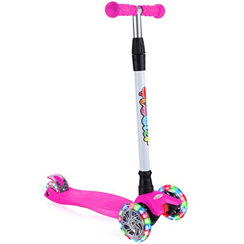Best Prices! BELEEV Kick Scooter for Kids 3 Wheel Scooter for Toddlers Girls & Boys, 4 Adjustable He...