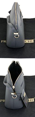 de Italien cuir Gris rangement petite bandoulière nbsp;Comprend artisanal sangle Foncé marque réglable protecteur triangulaire un ou sac texturé épaule sac 6Aq6H54