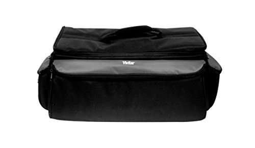 Vivitar VIV-RGC-12 Deluxe Pro Camera Camcorder Rugged Carrying Case, X-Large (Black) (Deluxe Slr Pro Camera Case)