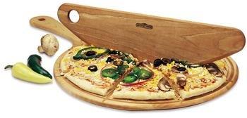 Mountain Woods 13.5'' X 18'' Gourmet Hardwood Pizza Peel & Cutter Set
