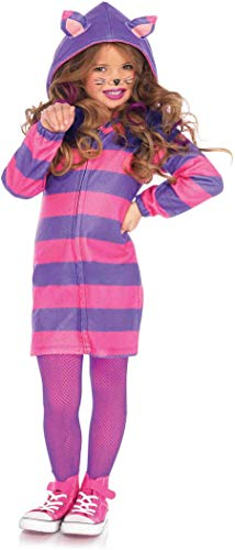 (Leg Avenue's Girl's Cheshire Cat Cozy Costume, Pink/Purple,)