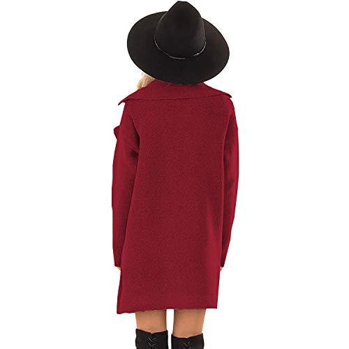 Sodial Manteau Vestes De En Hiver La Vineux Vetement Femme À Couleur Rouge Col Vin Avec Pure Collant Veste M Roule Laine Mode Poche Nouvelles Pour Chaud Automne rW051qOrn