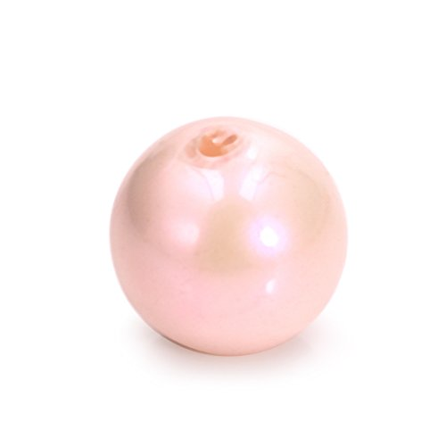 Round Resin Beads Bright Pearl Spacer Charms European Bead for Jewelry Finding Light Pink 12MM 30Pcs (Pearl Pink Round Bead)