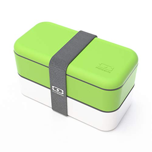 monbento Original - lunch boxes (Verde, Color blanco, Rectangular)