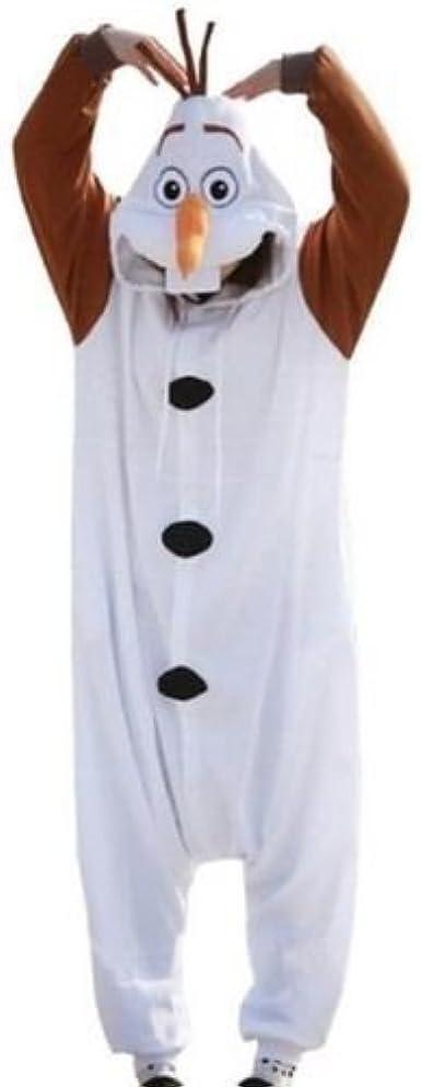Olaf Frozen Pijama Onsie de nieve, disfraz de mono para disfraz unisex, para hombre y mujer