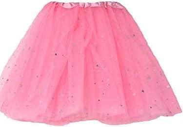 Falda tutú Red Plateado Brillante Estrellas Disfraz Ballet Vestido ...