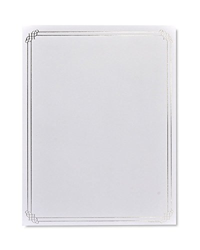 Gartner Studios Silver Foil Border Stationery, 40 count ()
