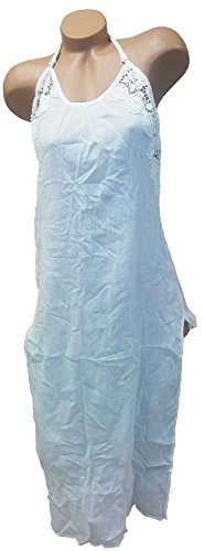 Victoria's Secret Swimwear Floral Crochet White Maxi Dress Cover-Up (Victorias Secret Maxi Dress)