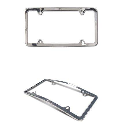 Genuine OEM Mercedes Benz Curved Front Slimline Frame, Polished Stainless ()