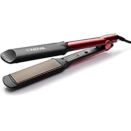Manya Impex Nova Professional Hair Straightener Temperature Control NHS 870  Black/Red