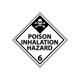 DOT Placard - Poison Inhalation Hazard 6, (Pack of 5) (DL125R)