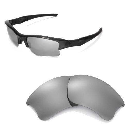 c80baeff29 Walleva Replacement Lenses for Oakley Flak Jacket XLJ Sunglasses - Multiple  Options Available (Titanium Mirror Coated - Polarized) (B0068U71DK)