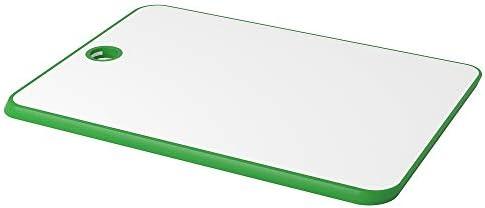 Tabla de cortar, color verde y blanco, 34 x 24 cm, apta para ...