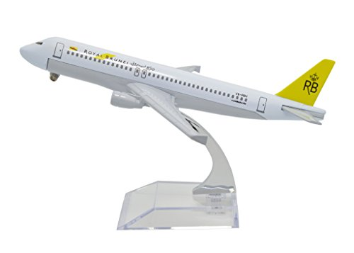 TANG DYNASTY(TM) 1:400 16cm Air Bus A320 Royal Brunei Airlines Metal Airplane Model Plane Toy Plane Model