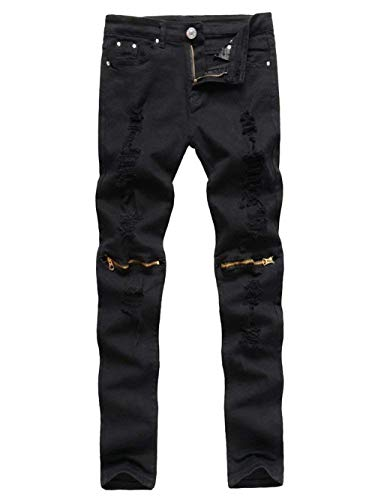 Fashion Da Especial Slim Uomo Solid Casual Denim Distrutto Estilo Jeans Regular Stretch Fit Rote Color Look Vintage Pantaloni Pants qzC5Owfxn