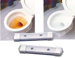 Chemical Toilet (CHEMICAL FREE MAGNETIC TOILET BOWL CLEANERS - SET OF 2)