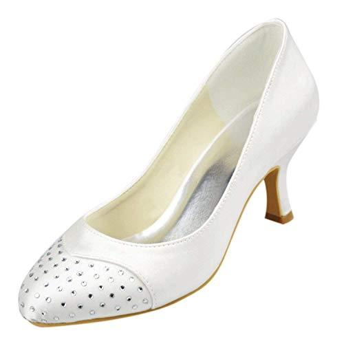 coloré Taille 5cm 5 Heel Chaussures 6 Uk 6 De White Mariage 5cm Heel Qiusa Silver tFwRqw8