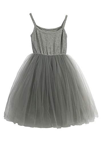 LYXIOF Baby Girls Tutu Dresses Sleeveless Princess Dress Infant Tulle Dress Toddler Sundress Grey A 18 Months