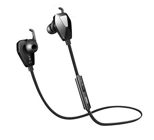 AOSO G13 Wireless Bluetooth Sport Kopfhörer V4.1, Stereo In-Ear Ohrhörer Schweißschutz 8 Stunden Laufzeit ideal fürs Joggen, Fitness und Training mit Noise Cancelling und APT-X/Mic für iPhone 6s Plus Samsung Galaxy S6 S5 HTC Android und anderen Bluetoothfähigen Geräten (Schwarz)