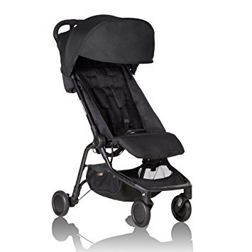 Premium Baby Stroller Flight Check-in Foldable Nano Type For Lightweight Use (16.6 Pounds) Travel System Ready!, for Infants, Toddlers And Kids, Classic Black Color (Mountain Buggy Jogging Stroller)