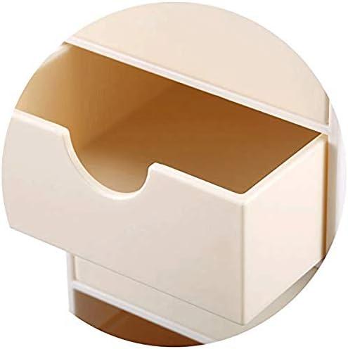 SHYPT 防塵化粧オーガナイザー、防塵蓋付き化粧品および宝石類収納、化粧台、スキン付き引き出し付きディスプレイボックス