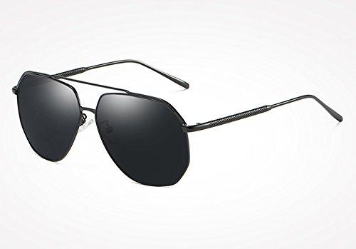 Marco Gafas Sol Guía Revestimiento Silver macho400 de Gafas Silver Aleación Espejos de polarizadas Gafas black TL de de Sunglasses Hombre gray UV Sol Hombres Gafas fHHq7w0