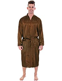 Luxury Mens Womens Long Kimono Robe Bridal Satin Robe Sleepwear