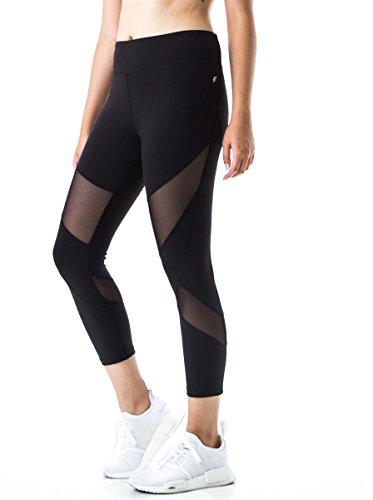 FIGUR Activ Women's Sport Capri 7/8 With Mesh Leggings For Yoga, Running, Fitness & Everyday Wear