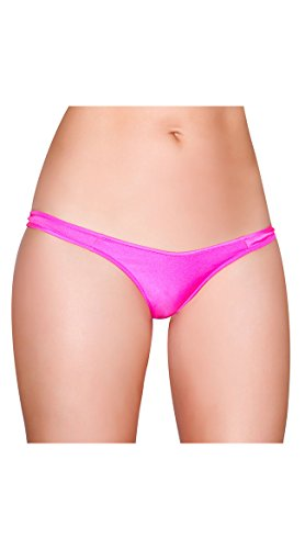 Kitty Cami (RomaCostume TBack-HP-O-S Bikini Bottom, Hot Pink - One Size)