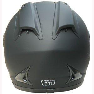 Full Face Sports Bike Motorcycle Helmet DOT 510 Matt Black (XL)