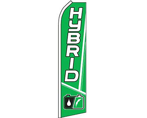 ALBATROS Hybrid Green White Swooper Super Feather Advertising Flag for Home and Parades, Official Party, All Weather Indoors Outdoors