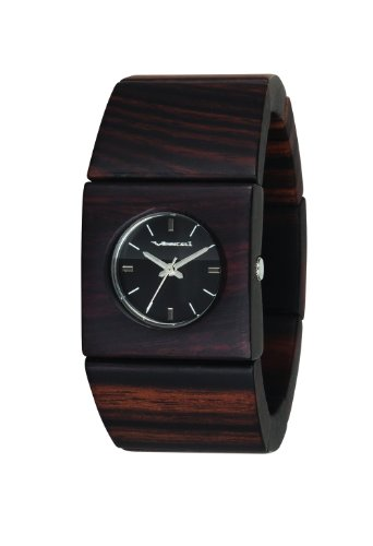 Vestal Women's RWS3W01 Rosewood Slim Real Wood Ebony Bangle Watch