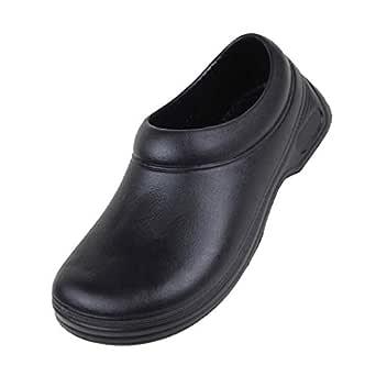 Dolity Mens Comfy Soft Hospital Kitchen Nursing Clogs Strapless Anti-Slip Shoes - Black, 244mm