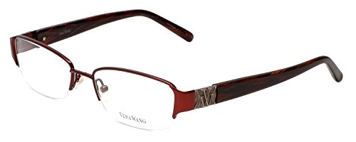 VERA WANG Eyeglasses V095 Burnt Cherry - Eyeglasses For Women Semi Rimless