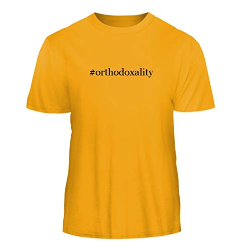 Tracy Gifts #Orthodoxality - Hashtag Nice Men's Short Sleeve T-Shirt, Gold, XX-Large