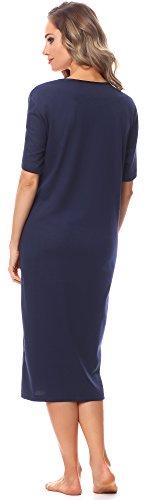 da 91LW1 Style Notte Camicia Scuro manica Corta Blu Donna Merry aEqXHEw