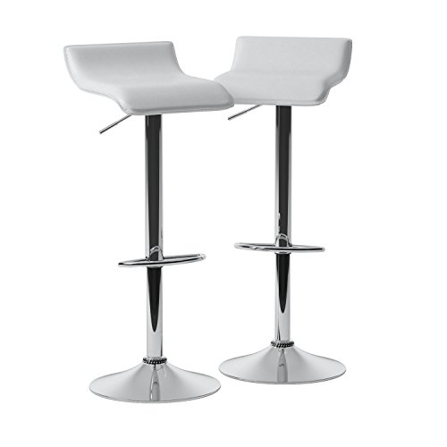 Roundhill Furniture Contemporary Chrome Air Lift