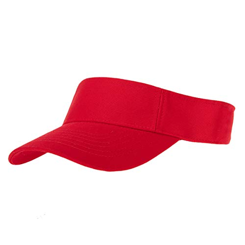 Red Sun Visor Hat - Single Piece