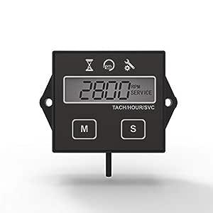 Runleader Cuentarrevoluciones digital Tacómetro, Recordatorio de mantenimiento, Apagado del usuario, Uso para ZTR Cortacésped Tractor Generador Marina
