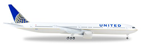 Herpa 529877 United Airlines Boeing 777-300ER 1:500 Scale REG#N58031 Diecast Display Model - Airlines Aircraft United
