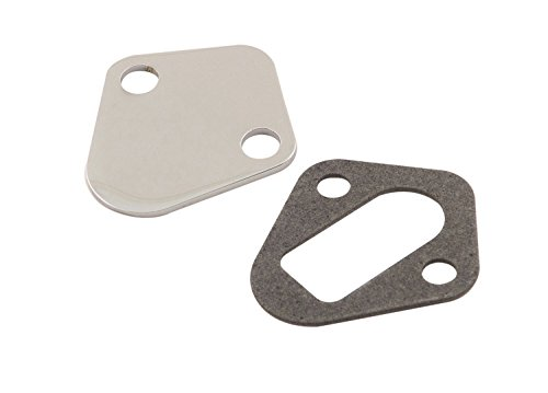 Mr. Gasket 1516 Fuel Pump Block Off Plate Chrome Fuel Pump Cover