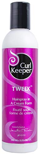 CURLY HAIR SOLUTIONS Curl Keeper Tweek - Hairspray In a Cream Form To Fine-tune Your Curly Hairstyles (8 Ounce / 240 Milliliter)