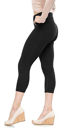 - Malvina Lush Moda Soft Cotton Capri Leggings - Best Selling Colors - Black Large
