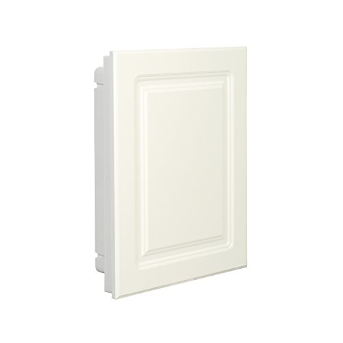 American Pride 9612RP1AR Recessed White Raised Panel Door Plastic Medicine Cabinet 16 x 20