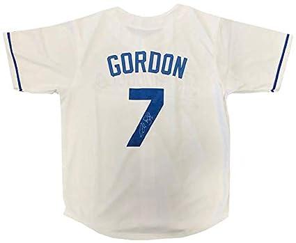 finest selection 5d354 a5b47 Alex Gordon Autographed Kansas City Royals White Jersey at ...